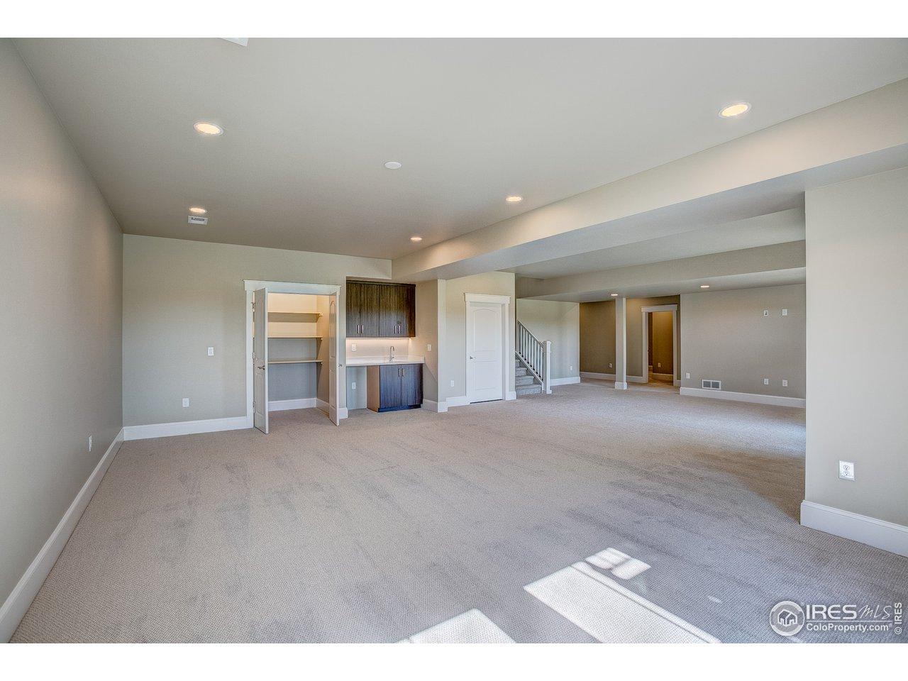 Birght, walk-out basement