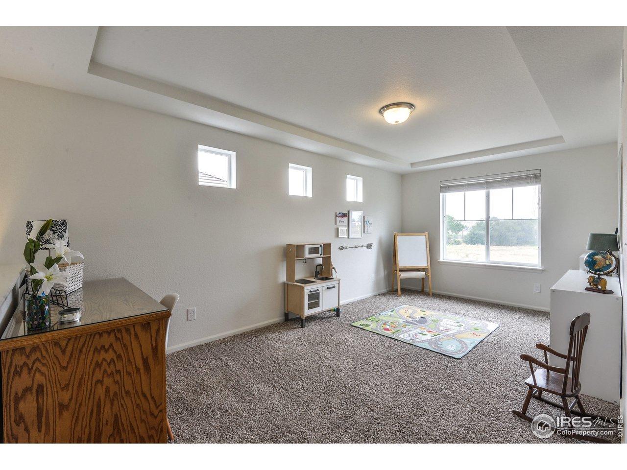 Bonus Loft Room w/ Coffered Ceiling 18x10