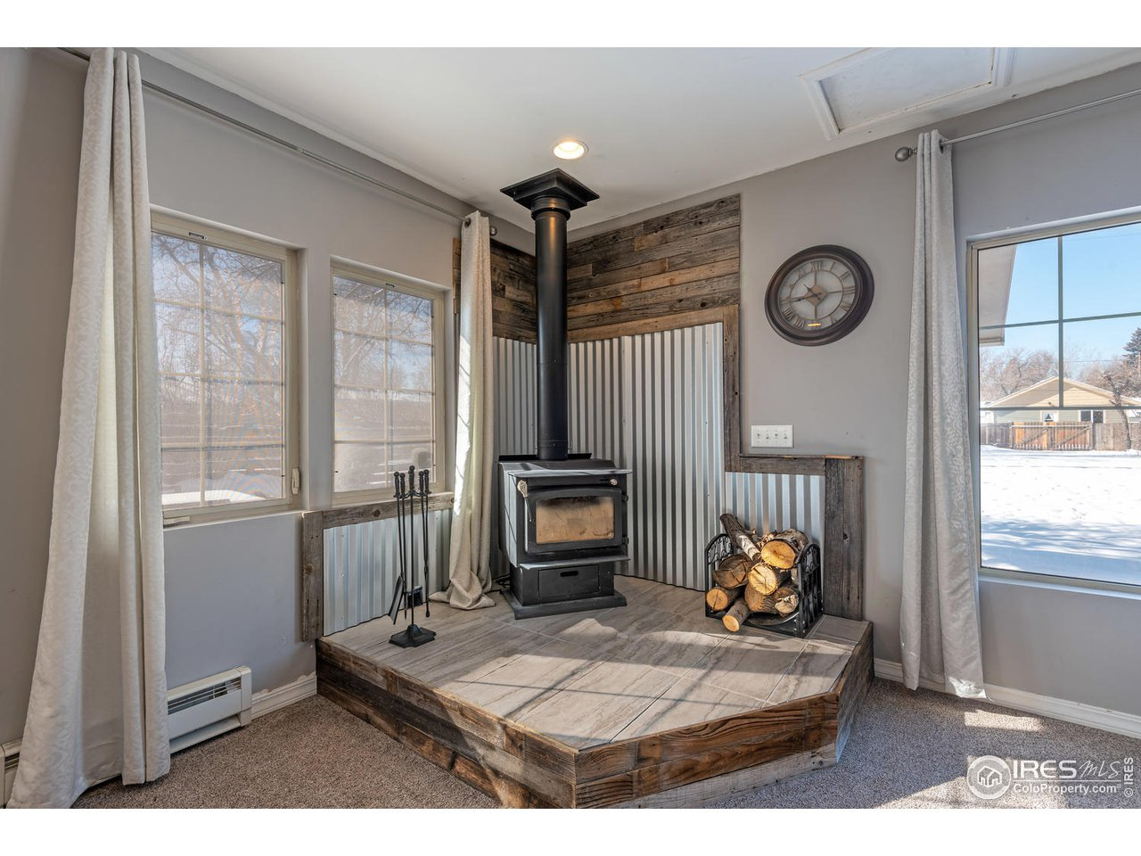 Wood Burning Stove Included