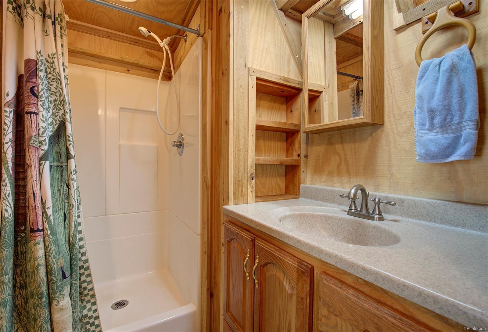 3/4 bathroom of barn