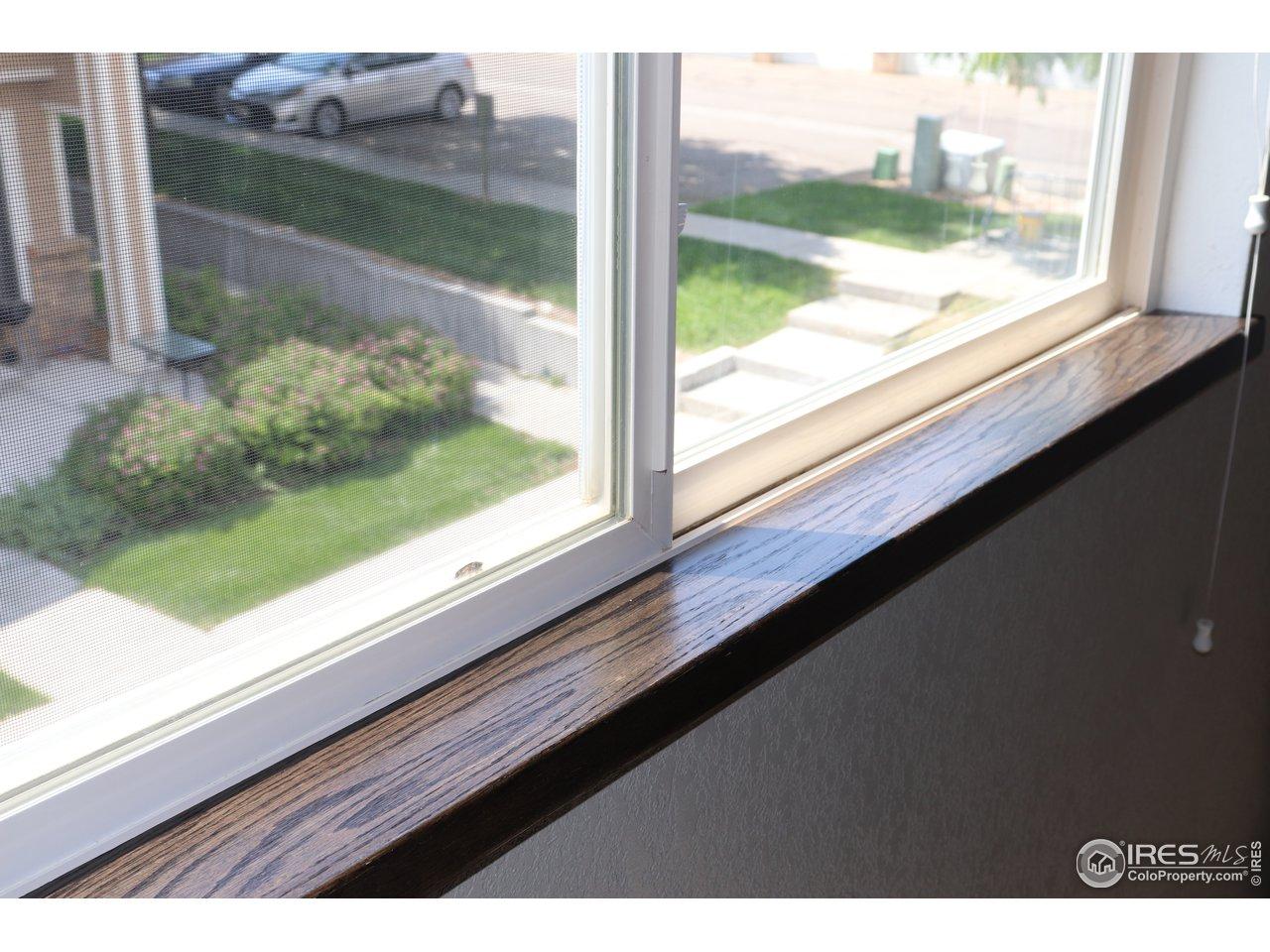 Custom Oak Window Sills that add a nice touch!