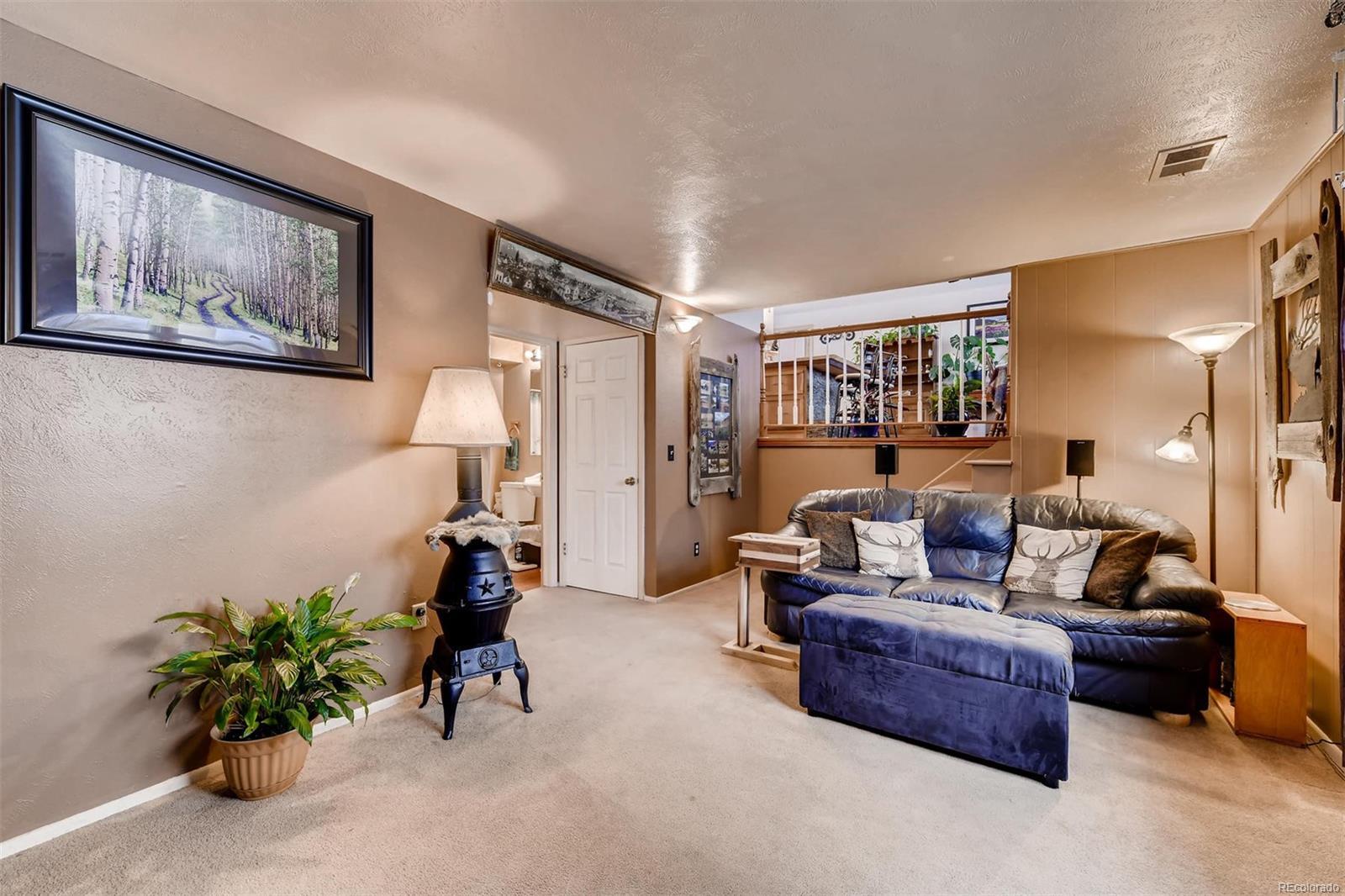 Lower Level Family Room. Freshly Cleaned Carpets!