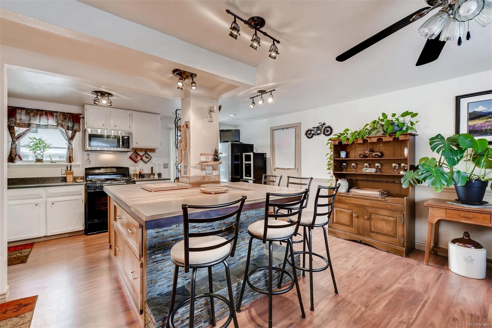 Wonder Open Kitchen & LARGE CUSTOM Wood Island/Bar.