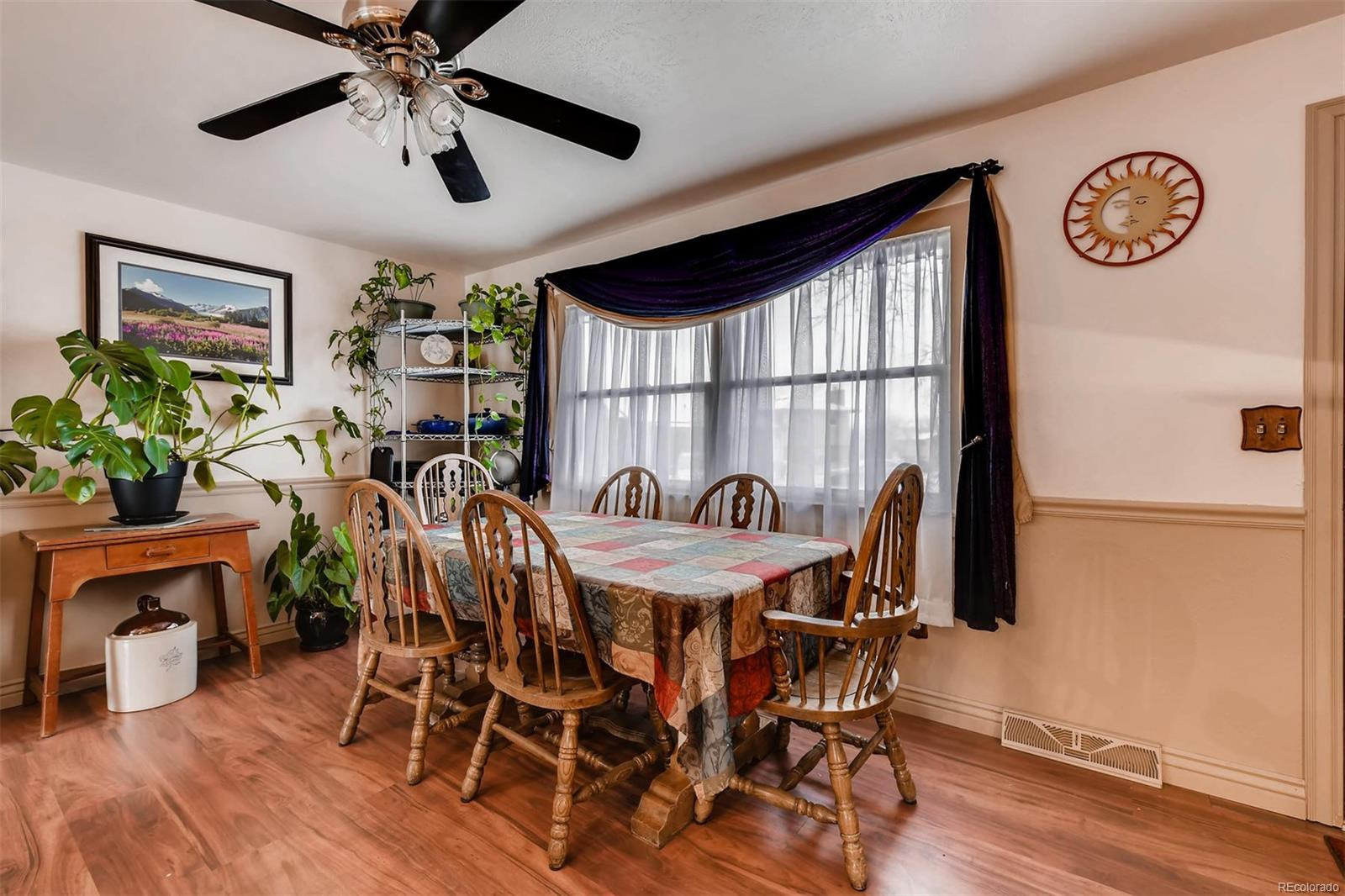 Dining Area Offers Space For Large Dining Table.