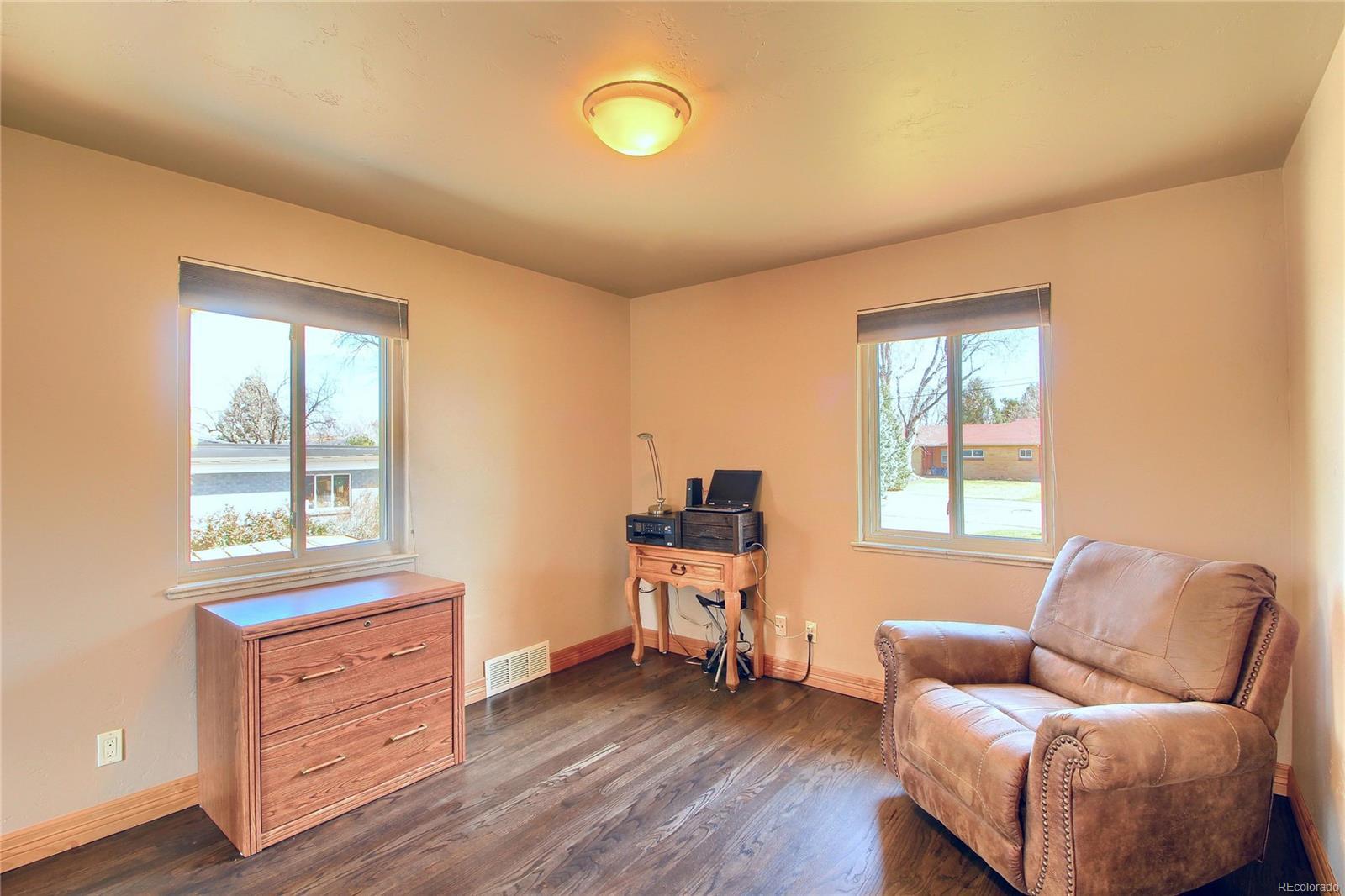 Upper Level Bedroom #2 - Beautiful Floors & Doors - Sunny!
