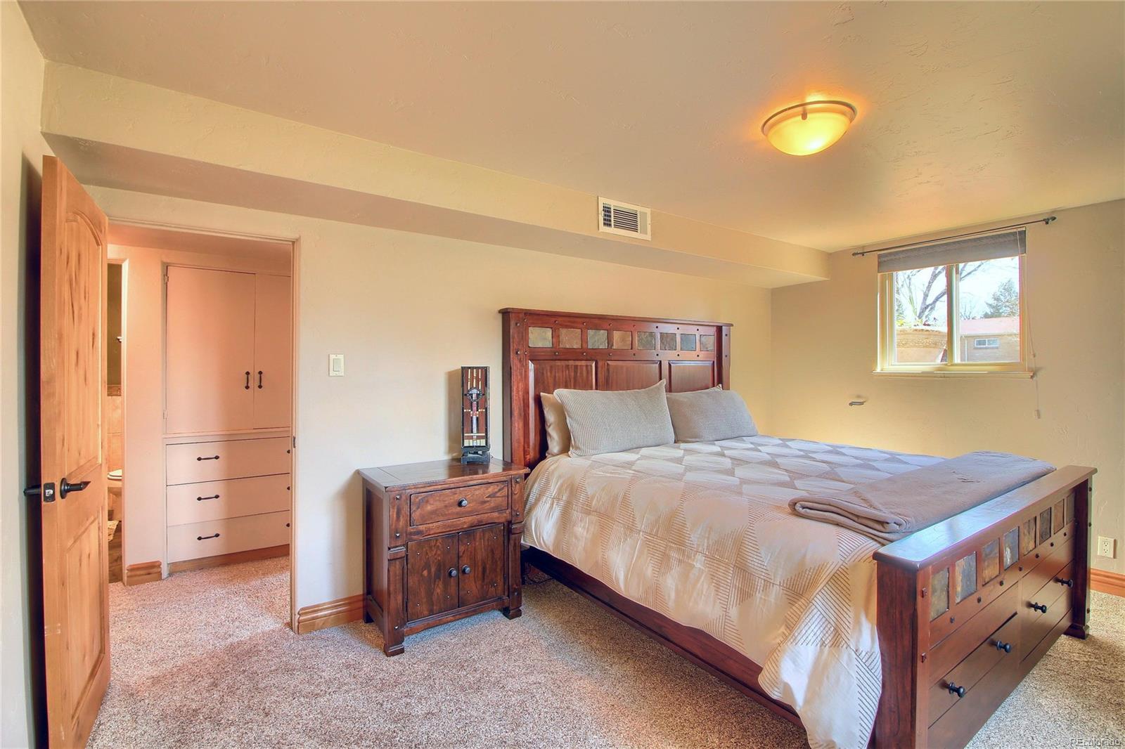 Garden Level Bedroom #1 - Newer Carpet & Beautiful Doors!