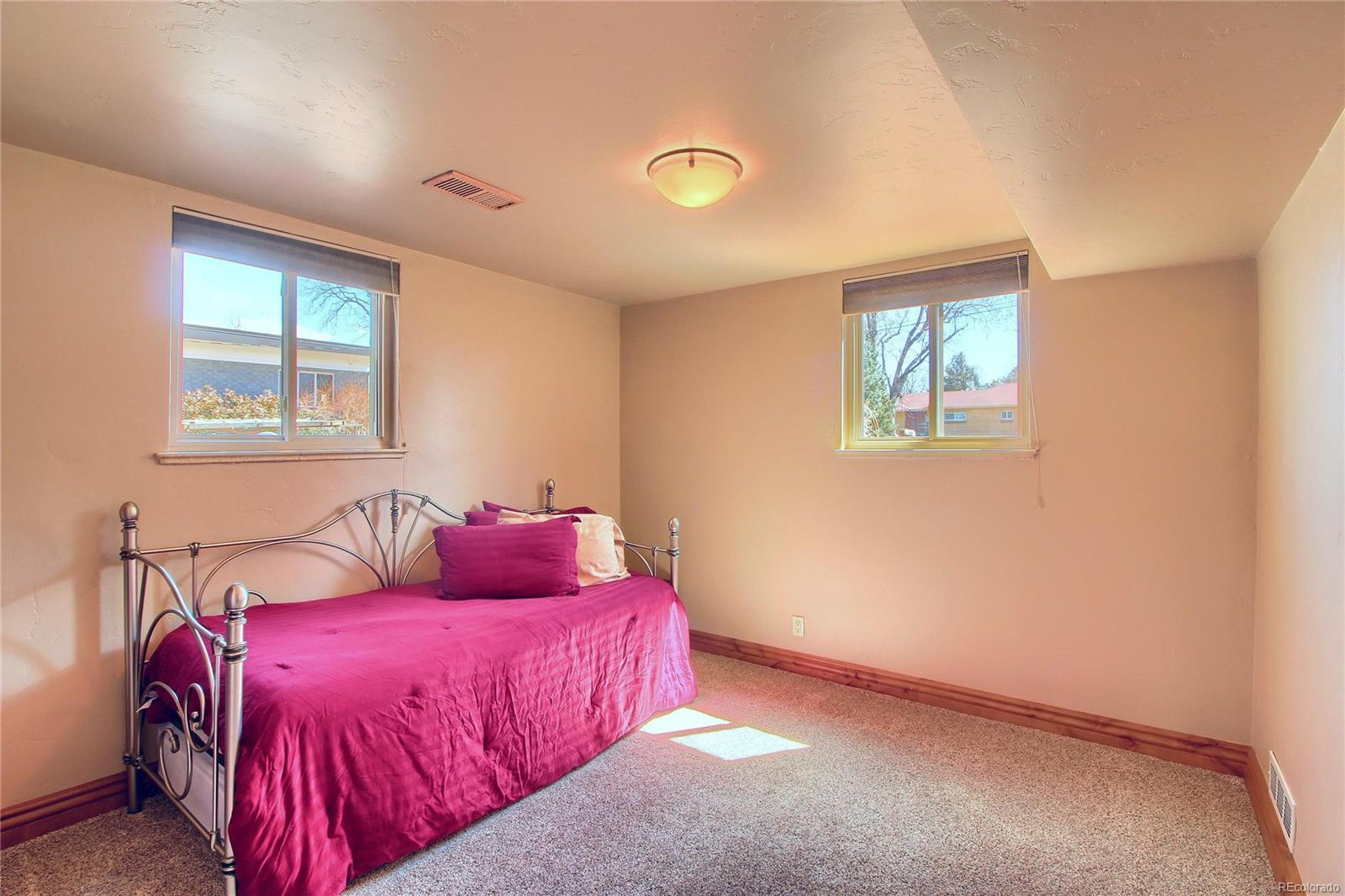 Garden Level Bedroom #2 - Newer Carpet & Beautiful Doors!