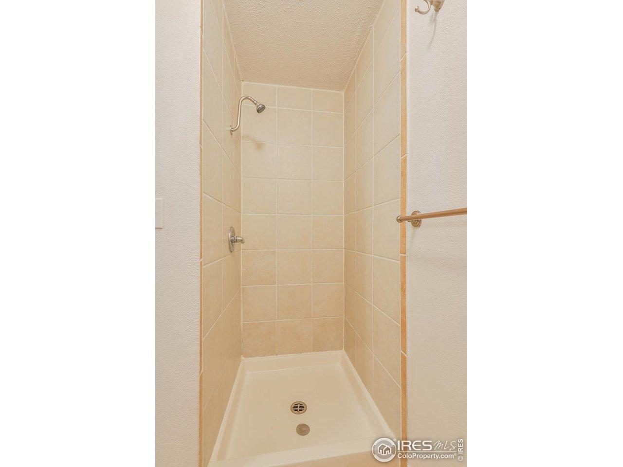 Upper bath shower