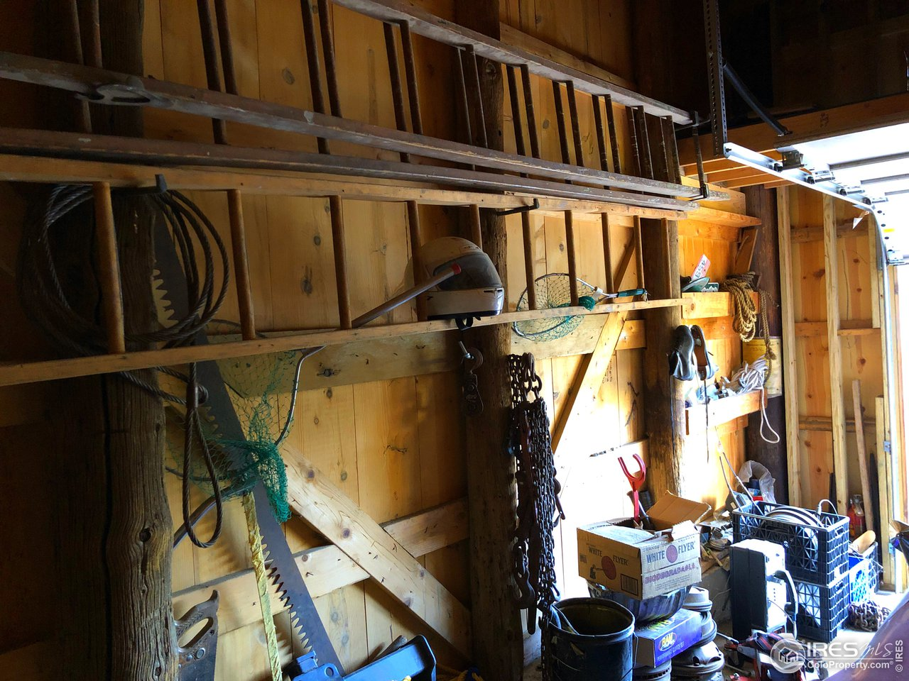 Hand Crafted Garage from old telephone poles