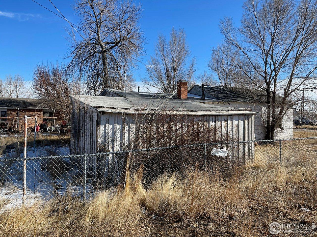 garage west side of fencing