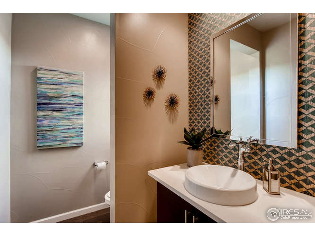 1/2 bath on the main level for entertaining needs