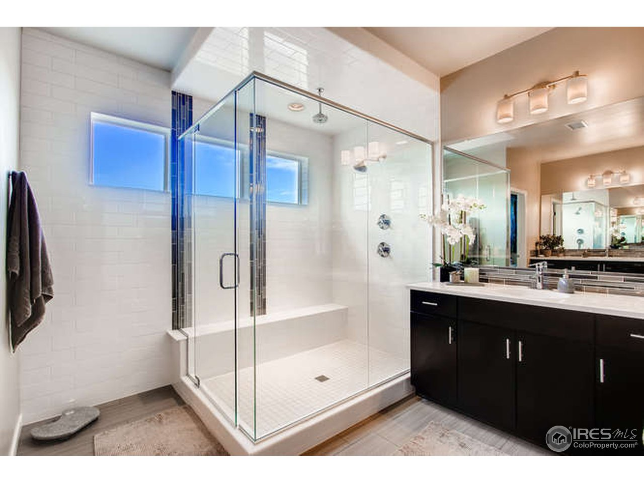 The master shower is huge!