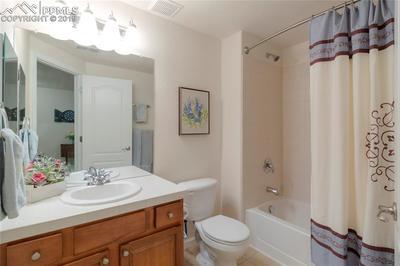 Full-size lower level bathroom.