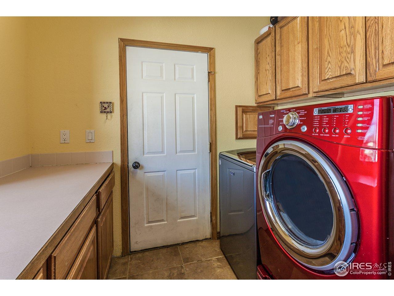 Laundry room on main level