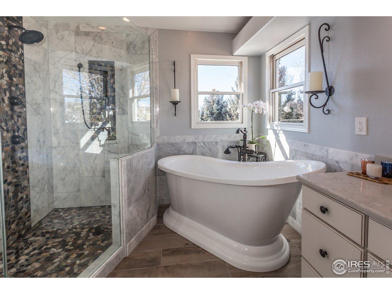 Gorgeous open shower