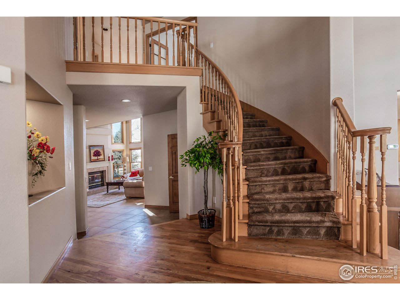 Beautiful curved staircase