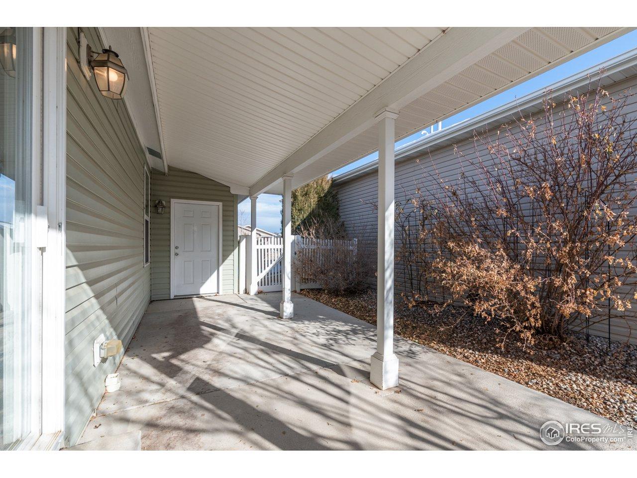Back/side patio and door into garage