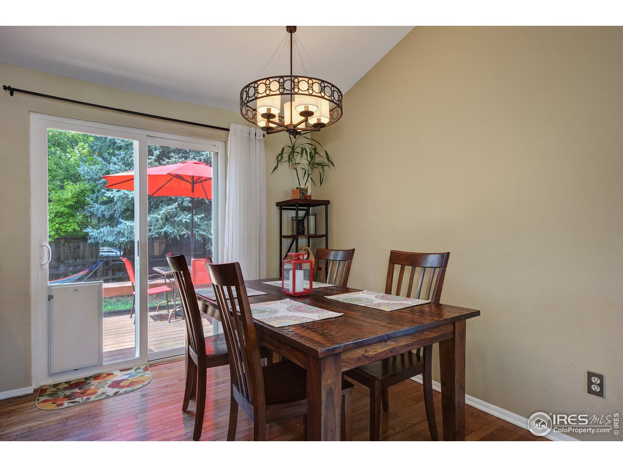 Dining room opens to large deck