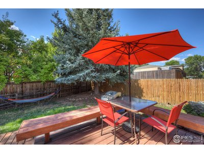 Private 2 tiered deck