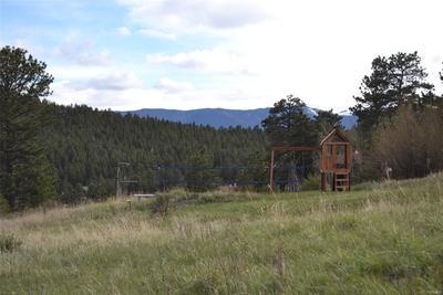 Children's playground and volleyball court