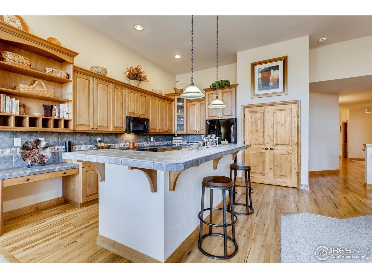 Kitchen-Alder Cabinets & Hickory Floors