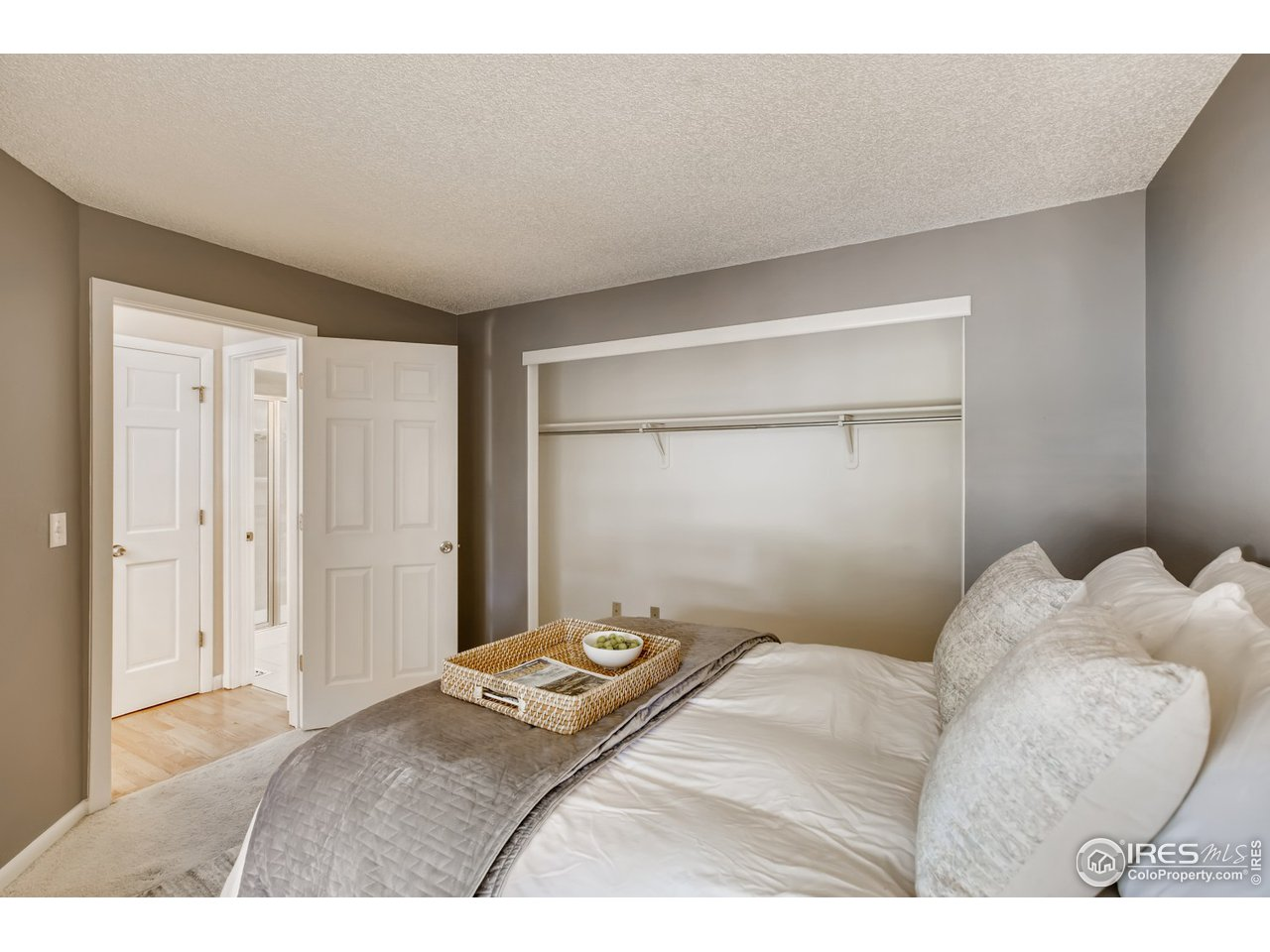 Main bed, looking to Closet Space