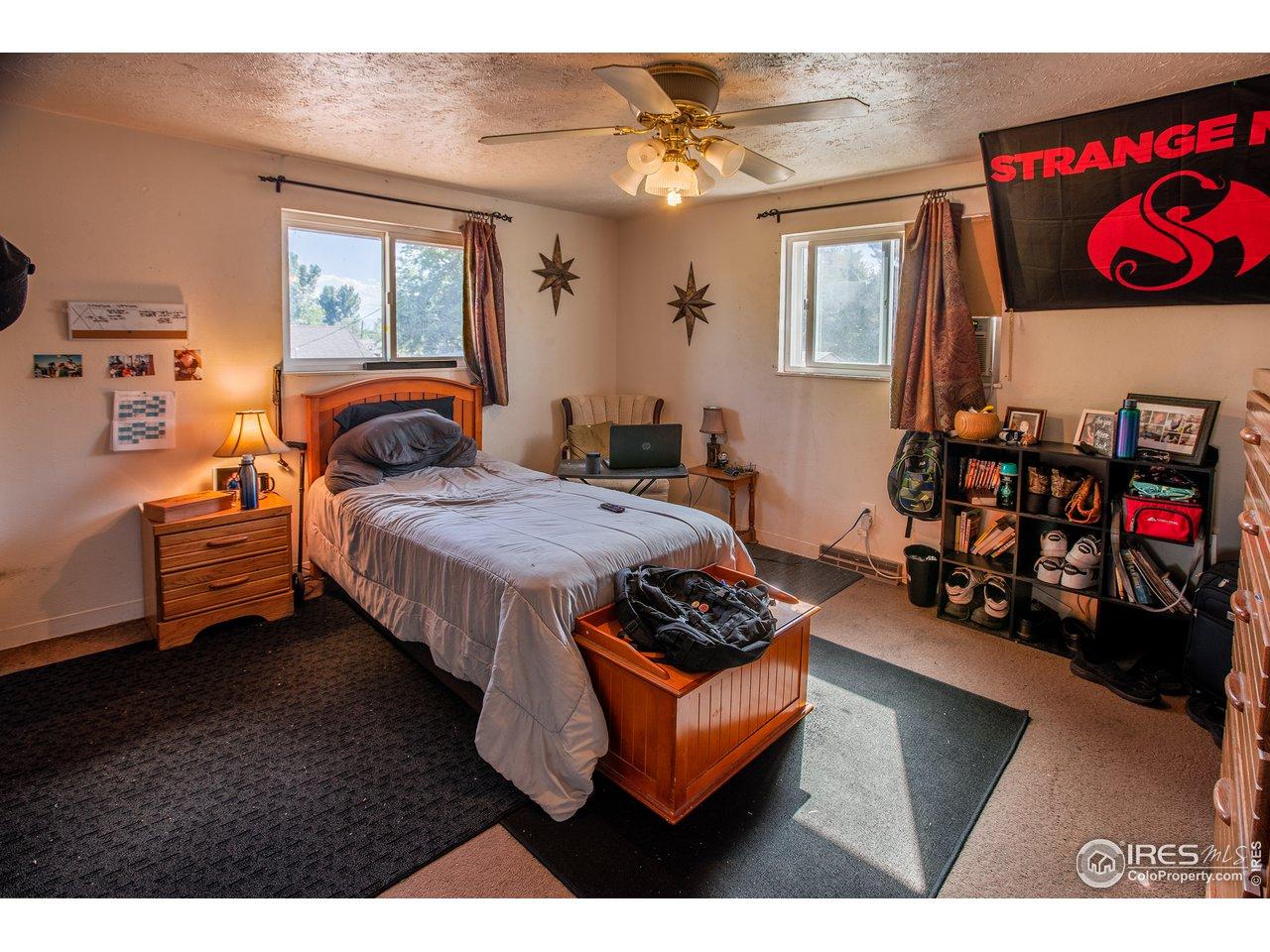 Large side upper bedroom