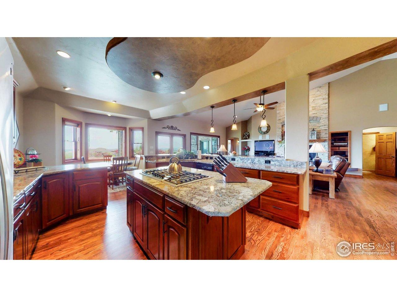 Kitchen w/Granite Slap Countertops