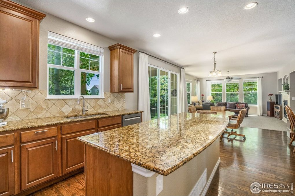 Spacious Kitchen Opening to Eat-in Area/Family Rm