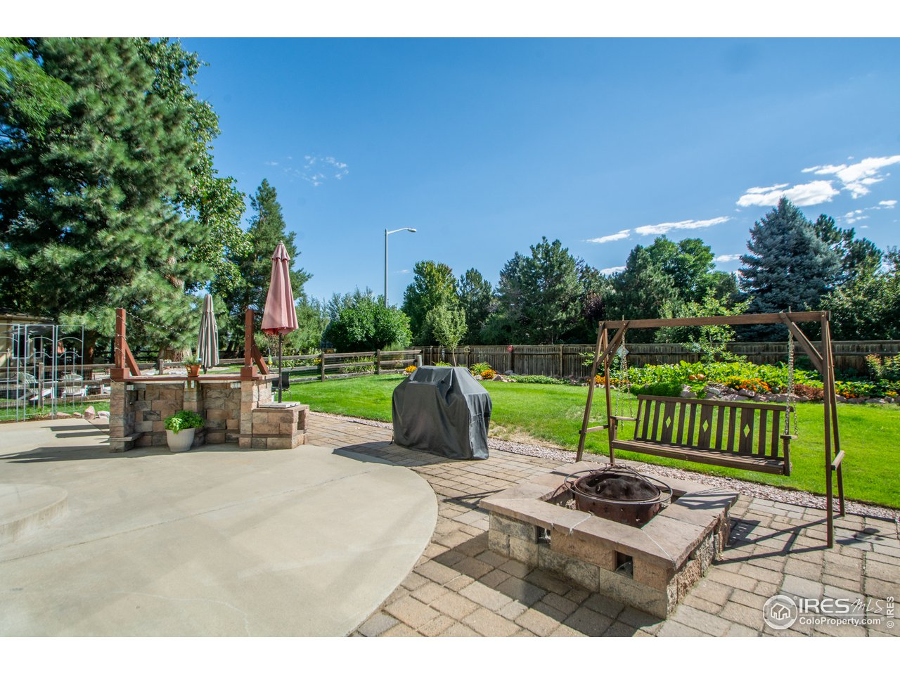 Rear Patio and Wood Burning Firepit