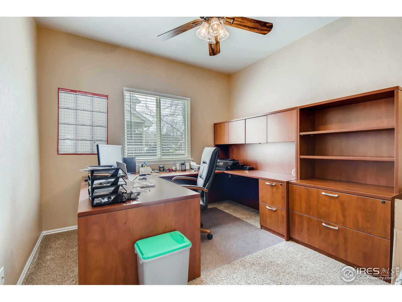 Basement rec room with lots of closets and storage.