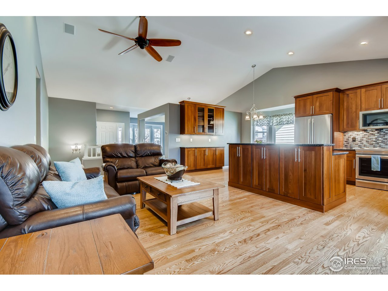 Gorgeous vaulted ceilings and open layout.