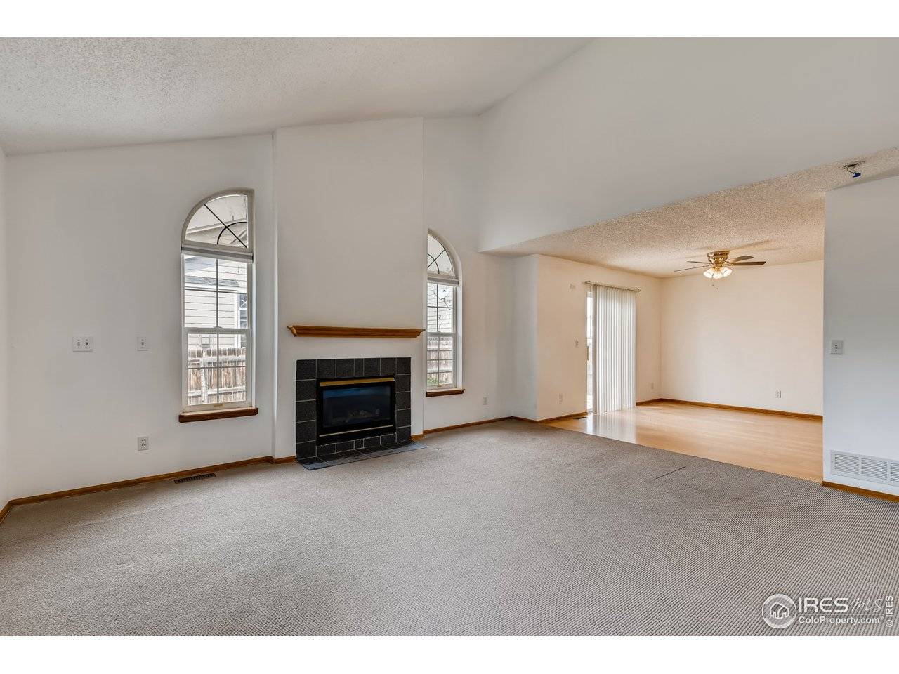 From entry - living room to dining room