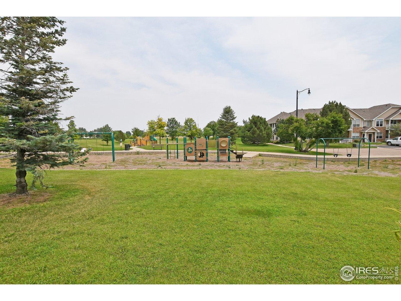 Pioneer Park across rear fence