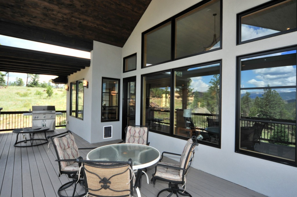 Large covered deck off Kitchen & Great Room