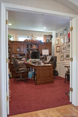 Main floor office or bedroom with private entrance