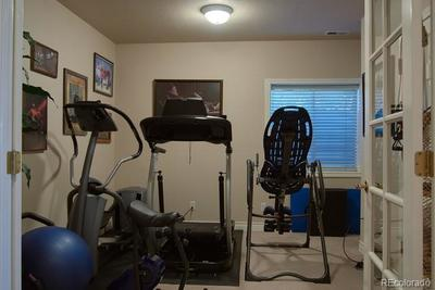 Exercise or bonus room in walk-out