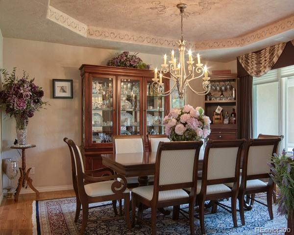Expansive dining room
